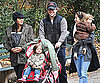 Slide Picture of Matt Damon With Gia, Isabella, Luciana, and Stella in New York