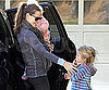 Slide Picture of Jennifer Garner Arriving at a Playdate with Violet and Seraphina Affleck