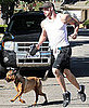 Pictures of Kellan Lutz Running in LA with His Dog Kola
