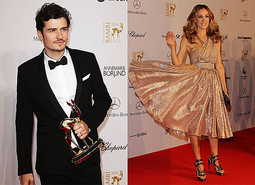 Sarah Jessica Parker, Orlando Bloom and Shakira at 2010 Bambi Awards in Germany