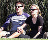 Slide Picture of Anna Paquin and Stephen Moyer at Soccer Game