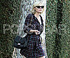 Slide Picture of Kirsten Dunst Wearing Plaid in LA