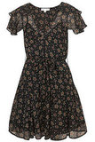 """""""I love the print on this dress. It's very young and playful. I think it would look super cute with a pair of colorful tights."""" Topshop Star Print Chiffon Dress ($160)"""