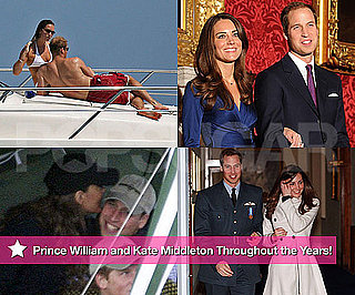 Pictures of Engaged Prince William and Kate Middleton, Engagement Ring, Bikini, Vacataion Through the Years