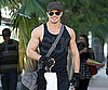 Slide Picture of Kellan Lutz Leaving the Gym in LA