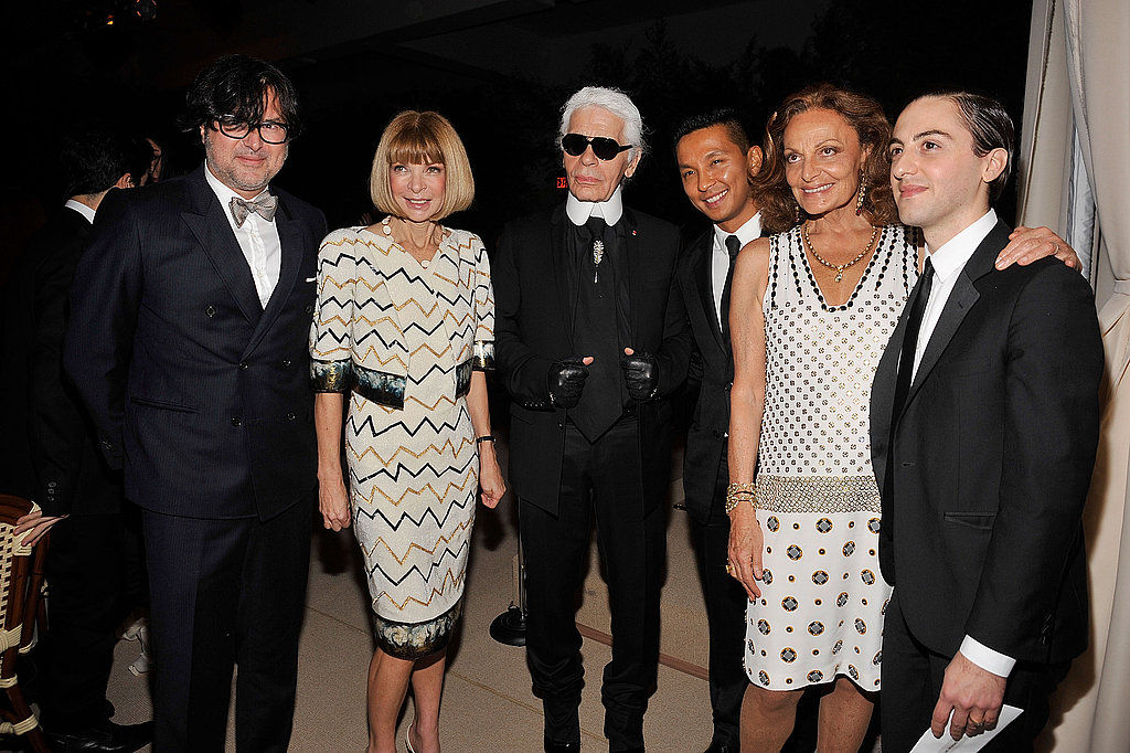 The big guns: winner Billy Reid, Anna Wintour, Karl Lagerfeld, Prabal Gurung, Diane von Furstenberg, and Eddie Borgo make up a room full of fashion elite.