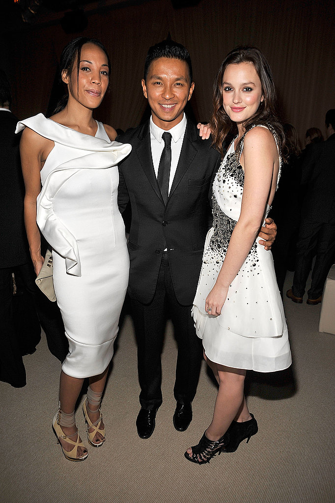 Prabal Gurung hangs with gorgeous girls Maggie Betts and Leighton Meester.