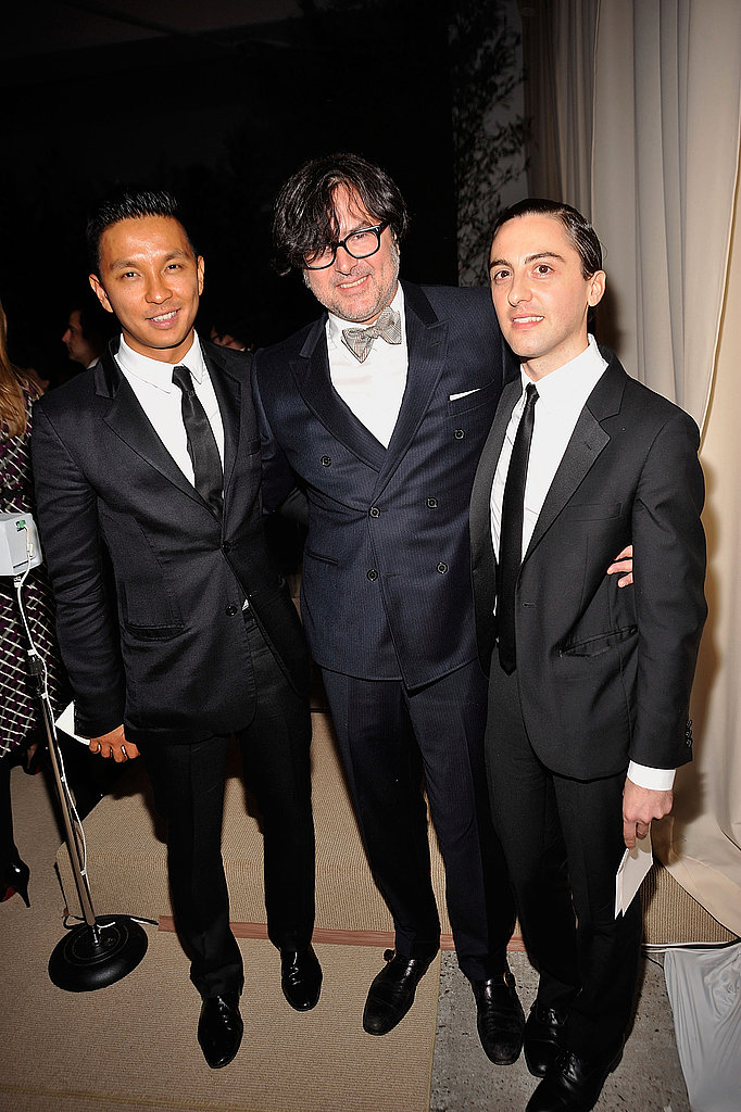 Finalists Prabal Gurung and Eddie Borgo pose with the night's big winner, Billy Reid.