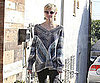 Slide Picture of Ashlee Simpson Wearing Chanel Earrings in LA