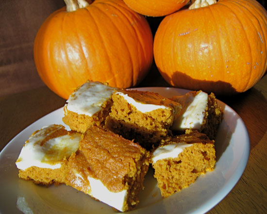 Pumpkin-Carrot Bars With Cream Cheese Frosting