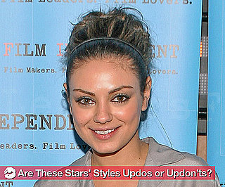 New Pictures of Celebrities Wearing Updo Hairstyles