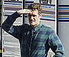 Slide Picture of Matthew Morrison on the Set of Glee