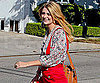 Slide Picture of Mischa Barton Wearing a Red Jumper in LA