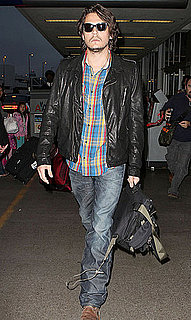 Pictures of John Mayer Going Scruffy and Solo at LAX