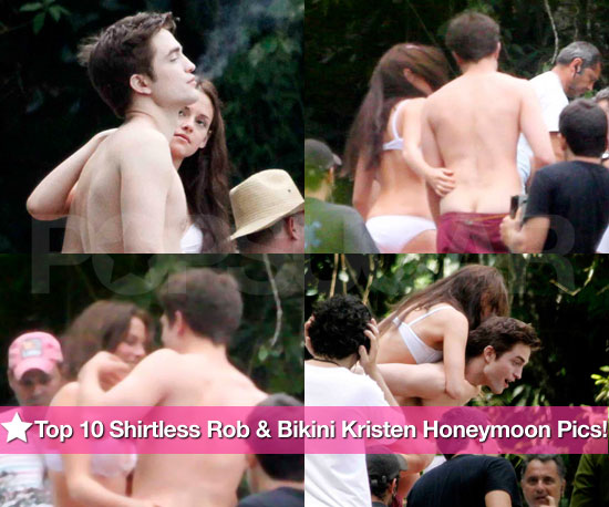 Your Top 10 Shirtless Robert Pattinson and Bikini Kristen Stewart Waterfall Scene Pics!