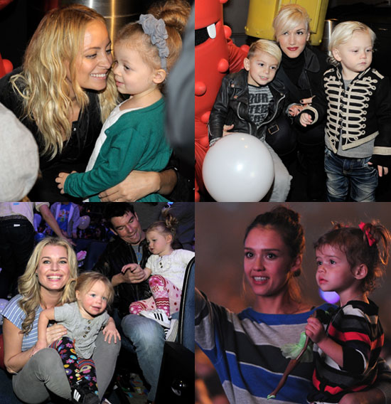 Jessica Alba, Gwen Stefani, Nicole Richie, and Celebrity Babies at Yo Gabba Gabba Shows in LA