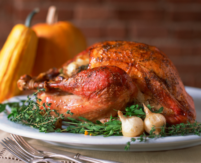 Herb-Roasted Turkey and Cru Beaujolais