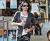 Slide Picture of Russell Brand Drinking Iced Coffee in LA