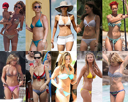 Pictures of Celebrities in Bikinis Including Kristen Stewart, Halle Berry, Jennifer Aniston, Katy Perry, Gisele Bundchen, More