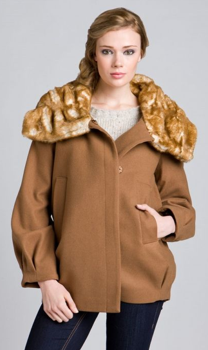 ABS Faux-Fur Collar Coat ($110)