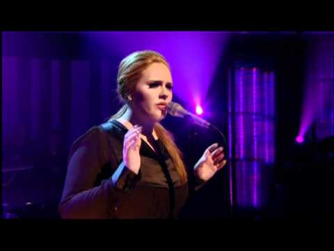 UK musical star Adele performs with Jools Holland on piano