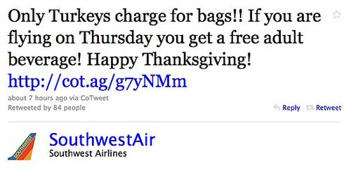 Free Drinks on Southwest