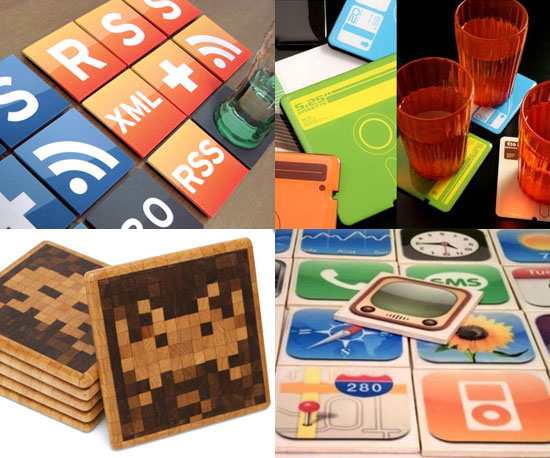 5 Geeky Coasters For Your Holiday Tables