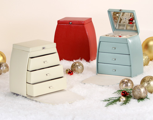 These Sophie jewelry boxes from Pottery Barn ($179) are on Oprah's list because of their handbag-inspired design. They're made with pebbled leather and include a mirror and three built-in drawers. I like to think that Oprah has the red one.