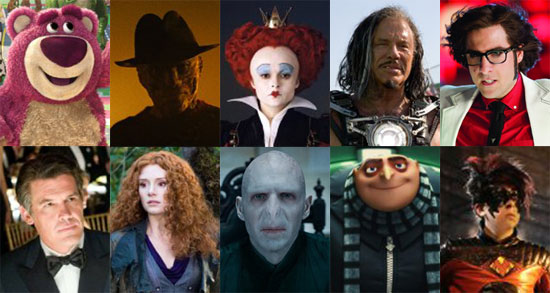 Best Movie Villains of 2010