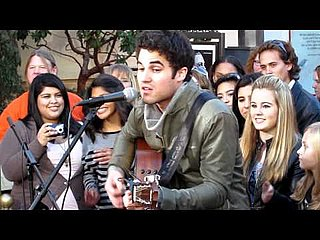 "Glee's Darren Criss Performing Acoustic ""Part of Your World"" From The Little Mermaid at The Grove in LA"