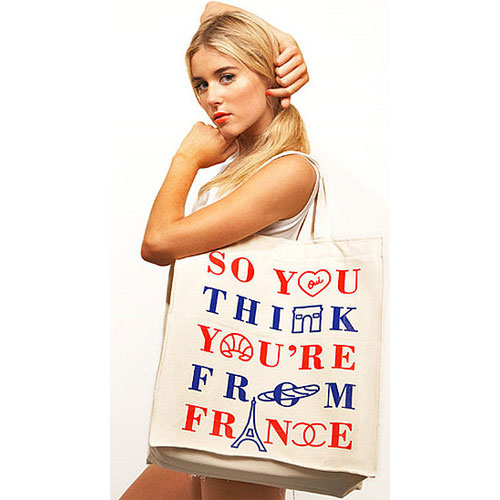 Cheeky! A Text-ural Tote Says It With Style