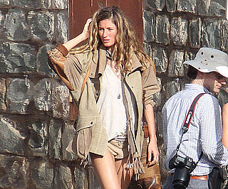 Slide Picture of Gisele Bundchen at Photo Shoot