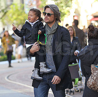 Pictures of Gabriel Aubry Shopping With Nahla After Thanksgiving With Kim Kardashian
