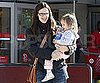 Slide Picture of Jennifer Garner and Seraphina at Target
