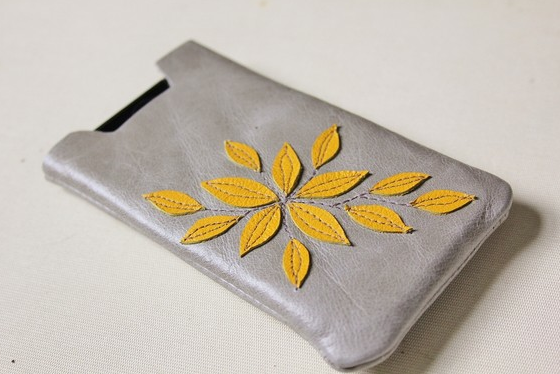 Handmade Leather iPhone Sleeve ($23)