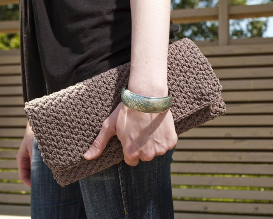 The Cordova Cable-Knit Clutch ($117)