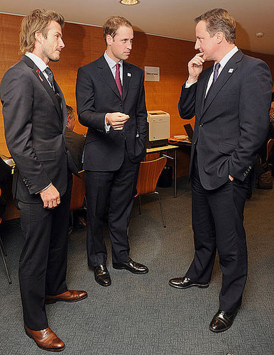 Pictures of David Beckham Teaming Up With Prince William to Bring the World Cup to England in 2018