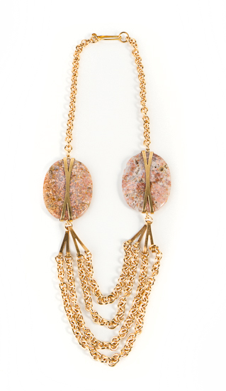 A statement necklace for the holidays is a must, and this Draugsvold Pink Agate Necklace ($220) screams fabulous.