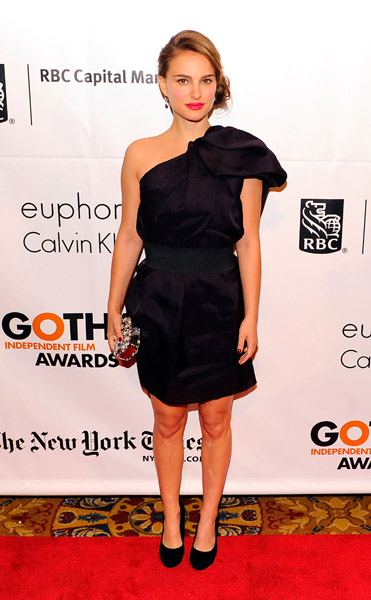 Natalie Portman inspires in a one-shoulder Lanvin for H&M.
