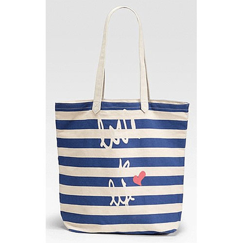 Sara Sailing Striped Cotton Tote