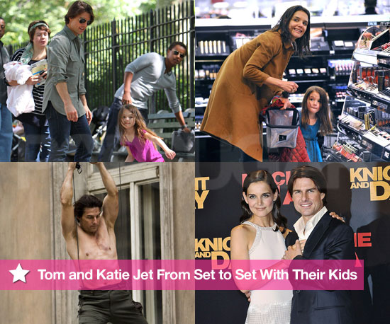 Best of 2010: Tom and Katie Jet From Set to Set With Their Kids