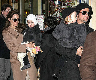 Slide Picture of Knox and Vivienne Jolie-Pitt at Lee's Art Shop in New York