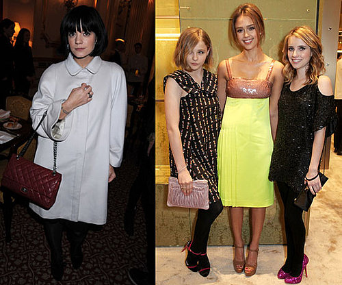 Lily Allen, Chloe Moretz, Jessica Alba and Emma Roberts at Miu Miu Event in London