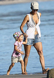 Halle Berry Bikini Pictures on the Beach With Nahla