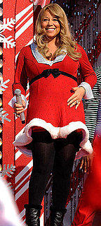 Pictures of Mariah Carey Taping a Performance For Disney's Christmas Day Parade