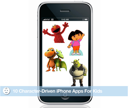 10 Character-Driven iPhone Apps For Kids