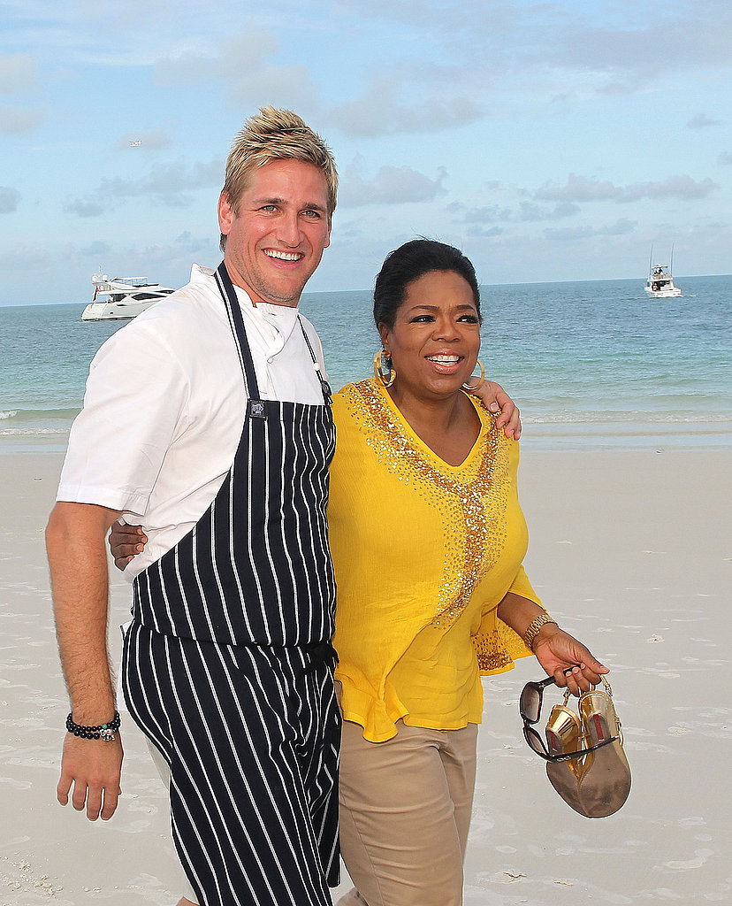 Oprah and Curtis Hit the Beach