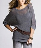 Open-Stitch Dolman Sweater