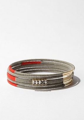 Thread Wrap Bangle Bracelets ($28 for set of five)