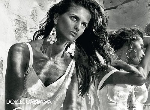 Victoria's Secret Models Izabel Goulart and Alessandra Ambrosio in Dolce & Gabbana Spring '11 Ads